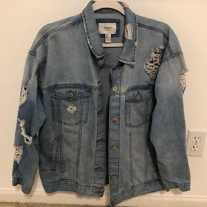 Distress demin jacket